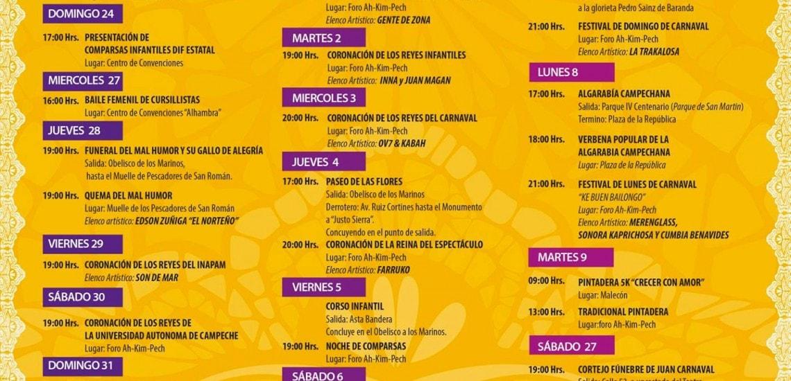 Programa Completo - Carnaval Campeche 2016