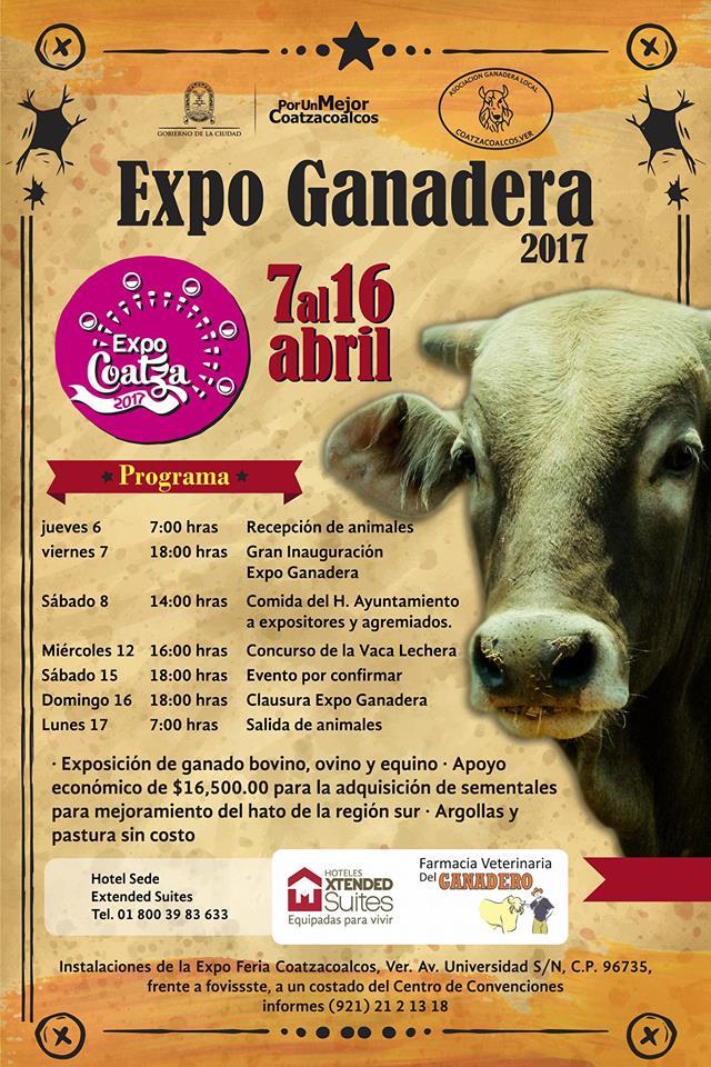 Programa de la Expo Ganadera Coatza 2017
