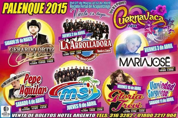 Artistas del Palenque Feria Cuernavaca 2015