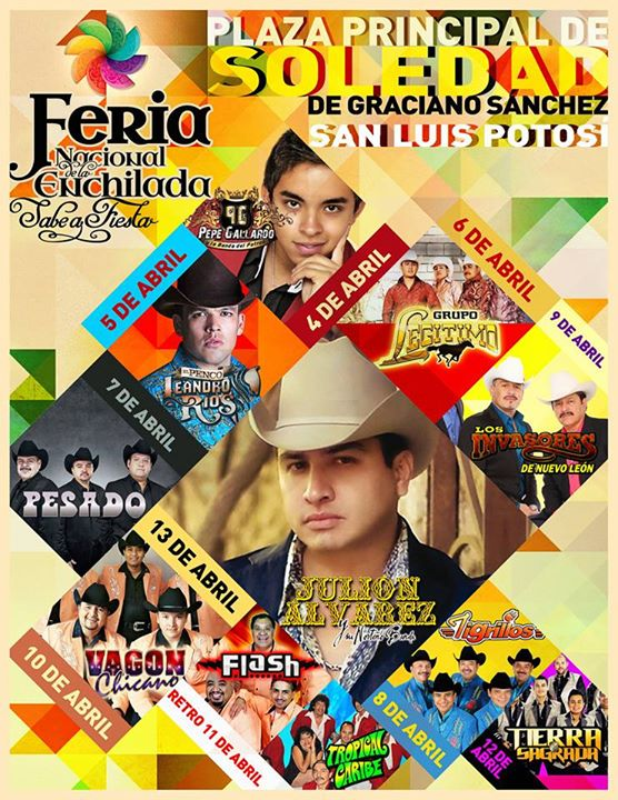 Artistas de la Feria Nacional de la Enchilada 2015