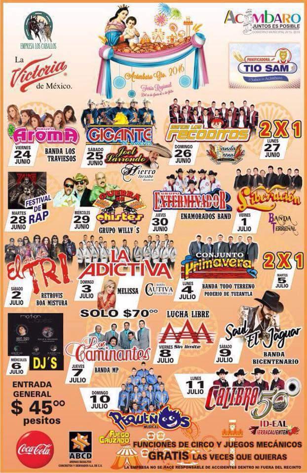 Teatro del Pueblo de la Feria Acambaro 2016
