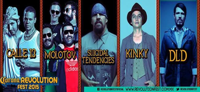 Artistas del Revolution Fest 2015