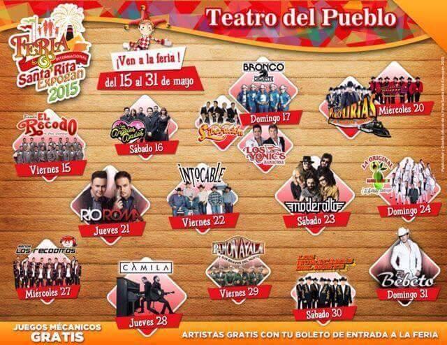 Elenco Artístico del Teatro del Pueblo Expogan 2015