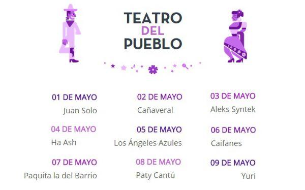 Elenco Artístico del Teatro del Pueblo de la Feria de Tabasco 2015