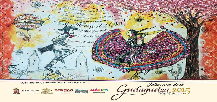 Cartel de la Guelaguetza Oaxaca 2015