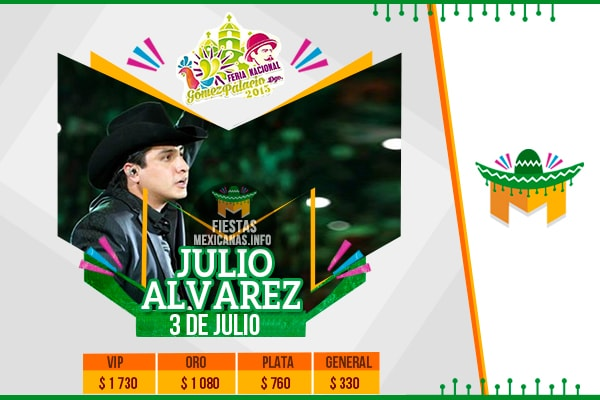 Julion Alvarez en Gomez Palacio