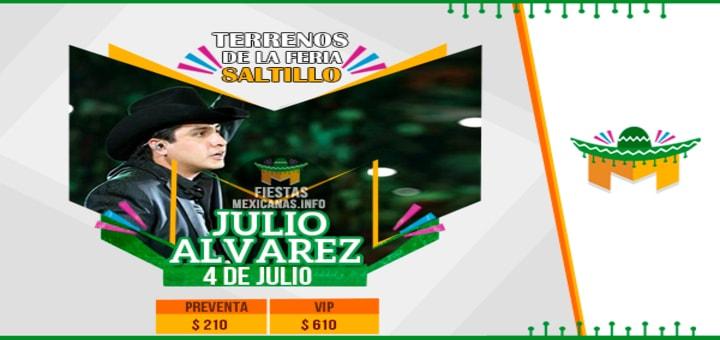 Cartel de Julion Alvarez en Saltillo