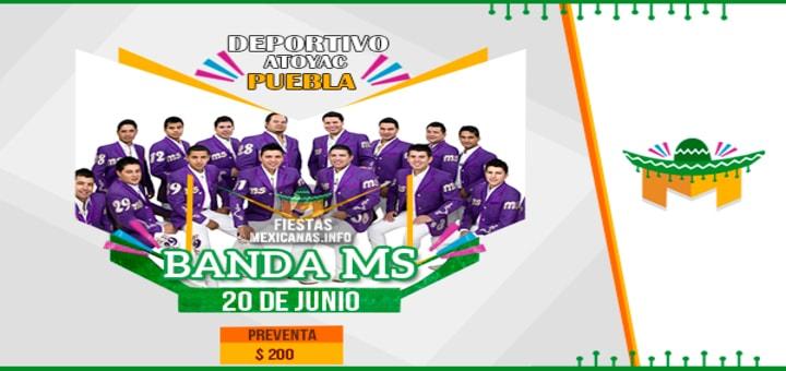 Cartel Banda MS en Puebla 2015