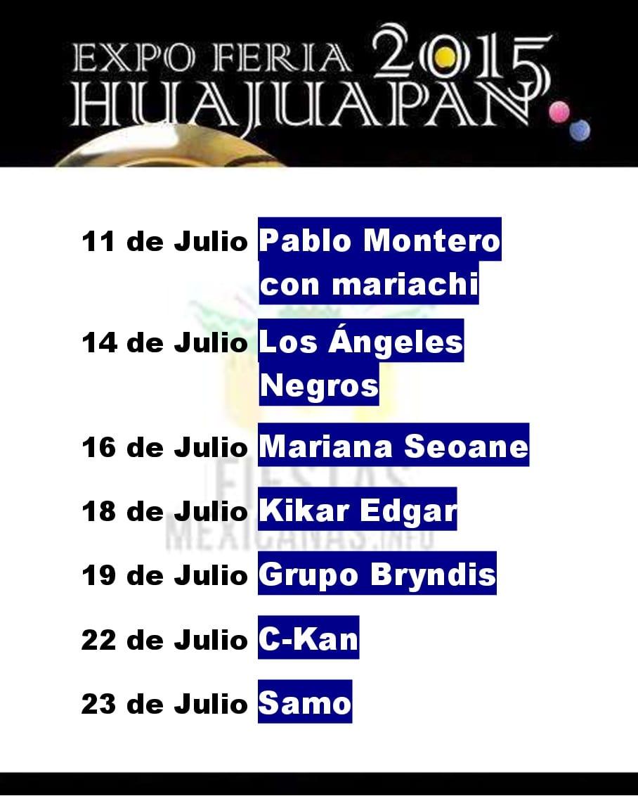 Programa de la Feria Huajuapan 2015