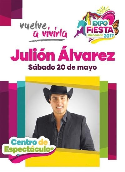 Boletos Julion Alvarez Expo Fiesta Michoacan 2017