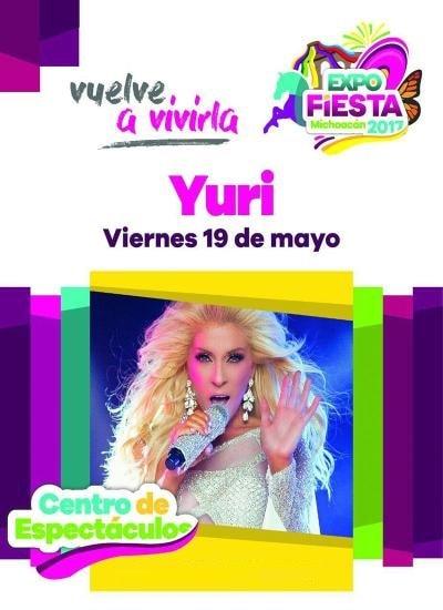 Boletos Yuri Expo Fiesta Michoacan 2017