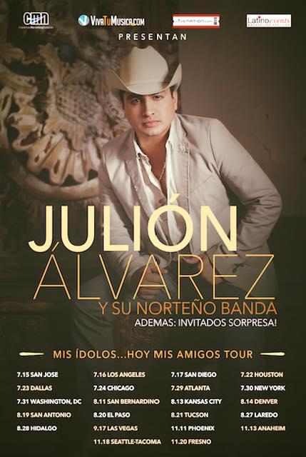 Julion Alvarez 2016 Gira Estados Unidos