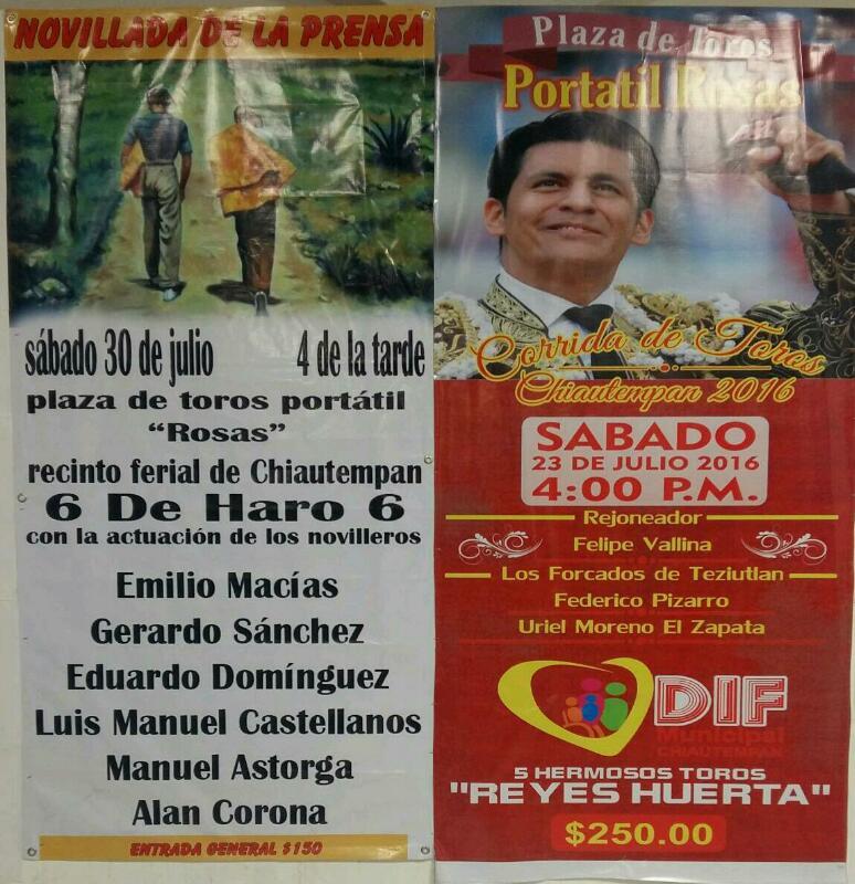 Cartel Taurino Feria Chiautempan 2016