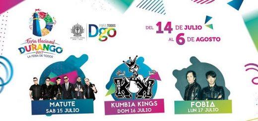 Cartelera Velaria Feria Durango 2017
