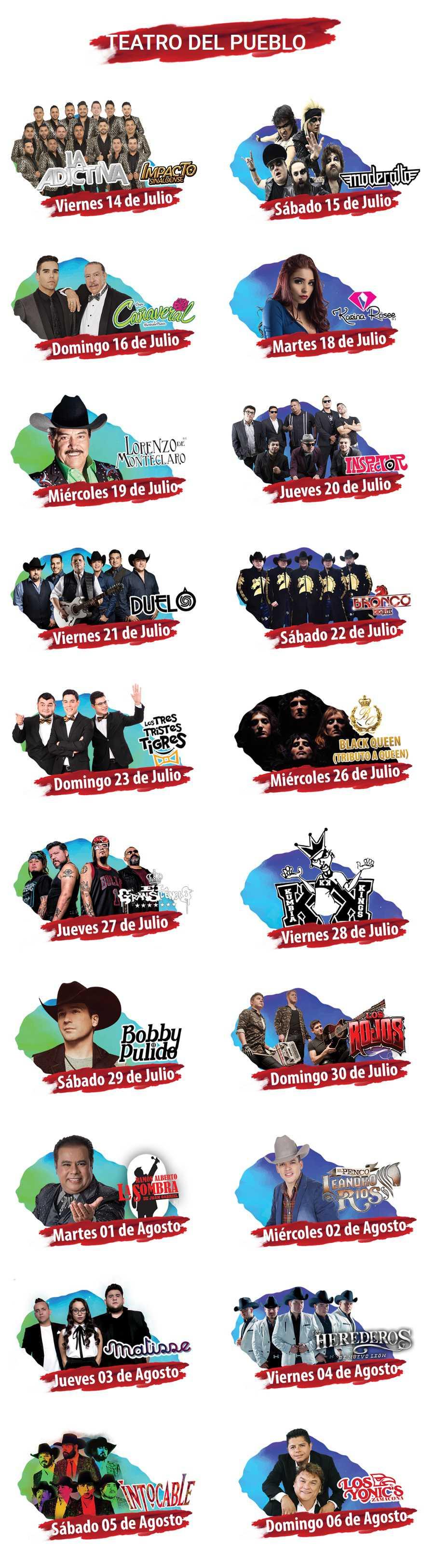 Programa Teatro del Pueblo Feria Saltillo 2017
