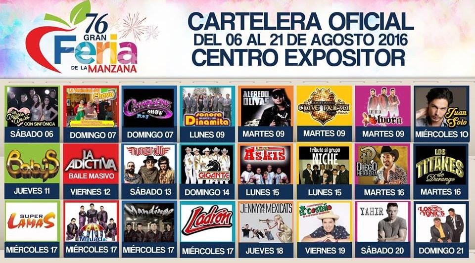 Cartelera Feria Zacatlan 2016