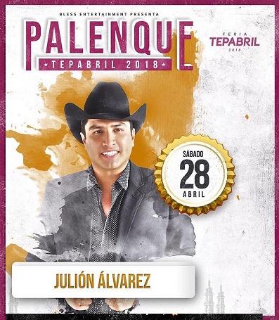 Julion Alvarez en Palenque Tepabril 2018