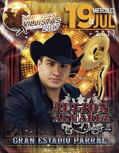 Julion Alvarez en el Gran Estadio Parral