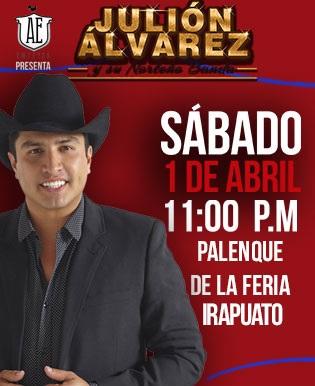 Julion Alvarez en Palenque Irapuato 2017