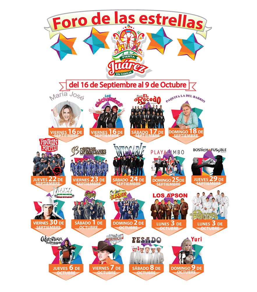 Foro de las Estrellas Fiesta Juarez 2016