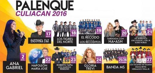 Cartelera Palenque Feria Culiacan 2016