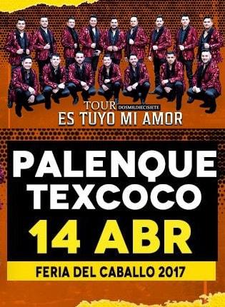 Banda MS el 14 de abril en Texcoco