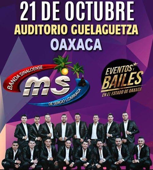 Banda MS en Auditorio Guelaguetza el 21 de octubre