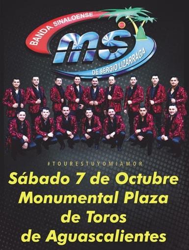 Boletos Banda MS Aguascalientes 7 de Octubre
