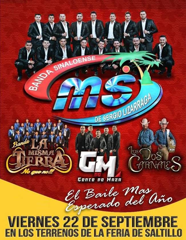 Banda MS en Saltillo 22 de Septiembre