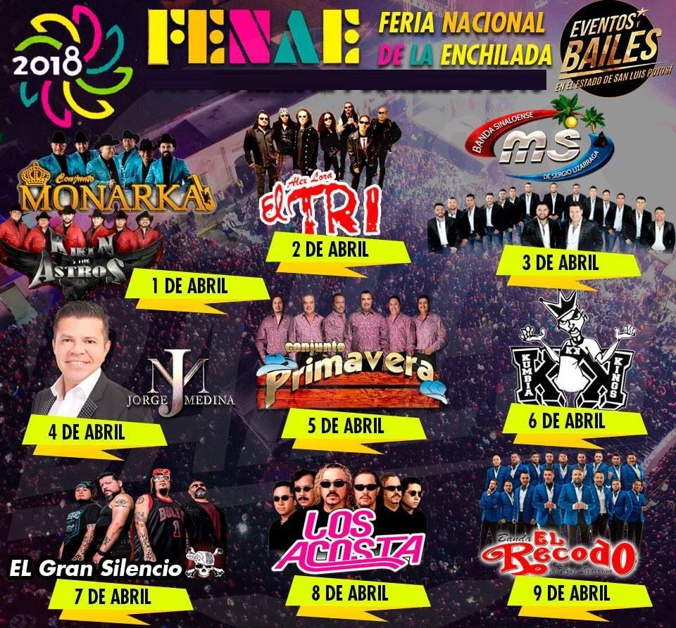 Cartelera Feria de la Enchilada 2018