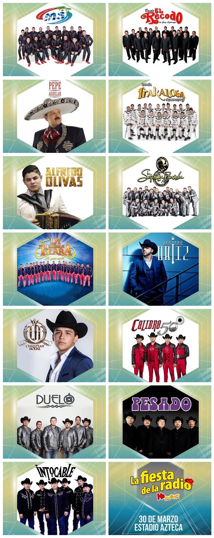 Artistas de la Fiesta de la Radio 2017