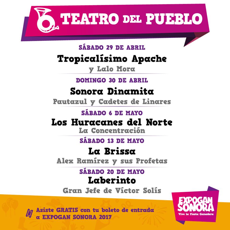 Cartel Teatro del Pueblo Expogan Sonora 2017