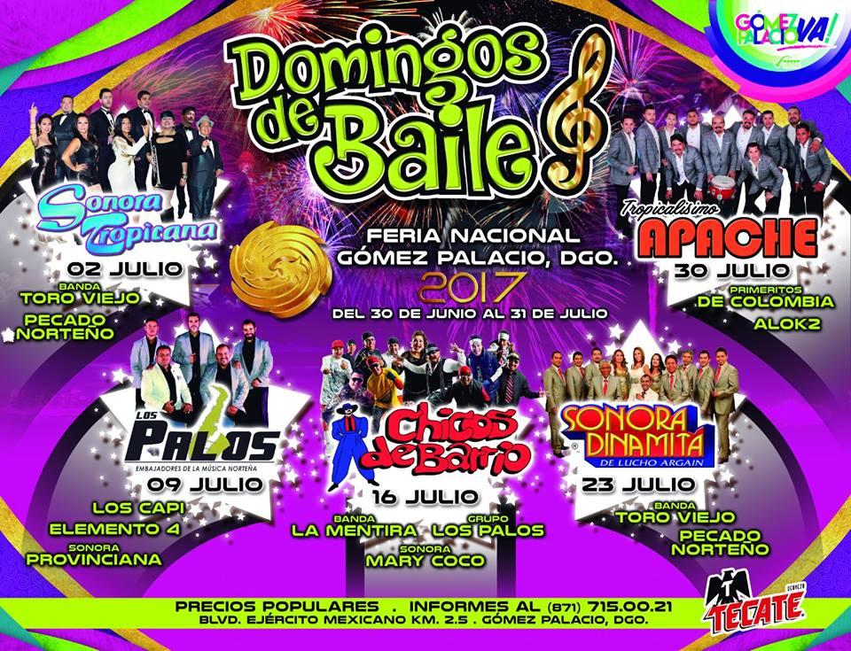 Domingo de Baile en la Feria Gomez Palacio 2017