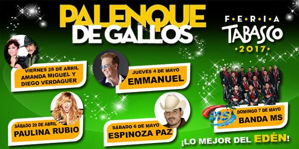 Cartel del Palenque Feria Tabasco 2017