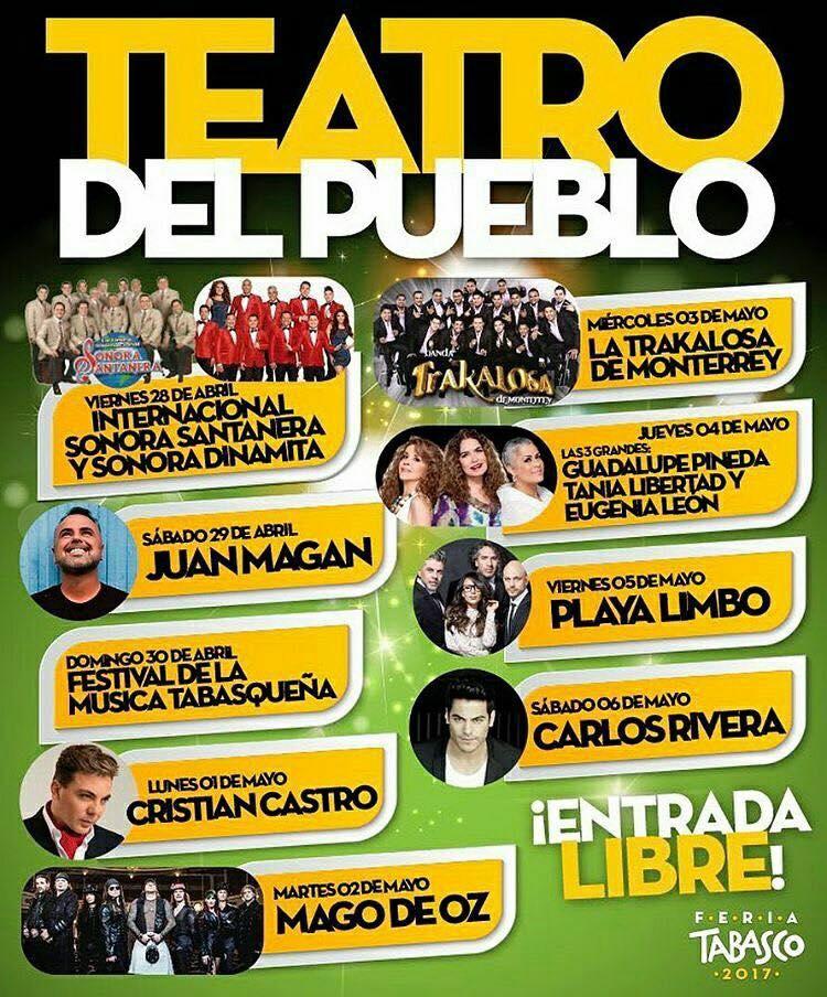 Teatro del Pueblo de la Feria Tabasco 2017