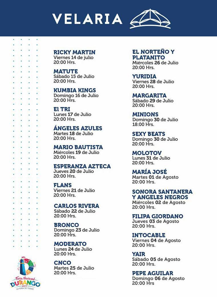 Programa Velaria FENADU 2017