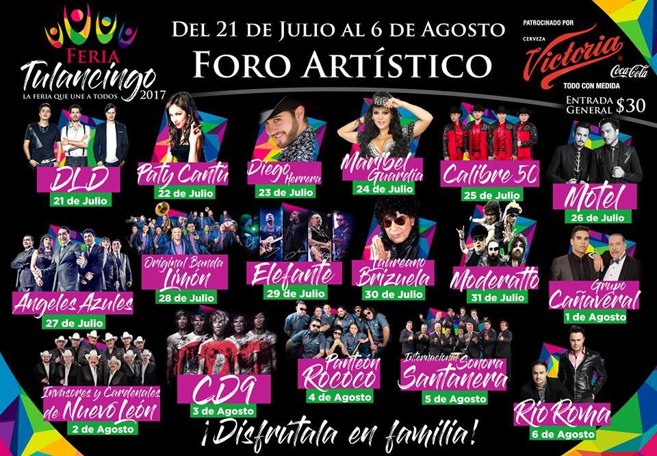 Programa Foro Artístico Feria Tulancingo 2017