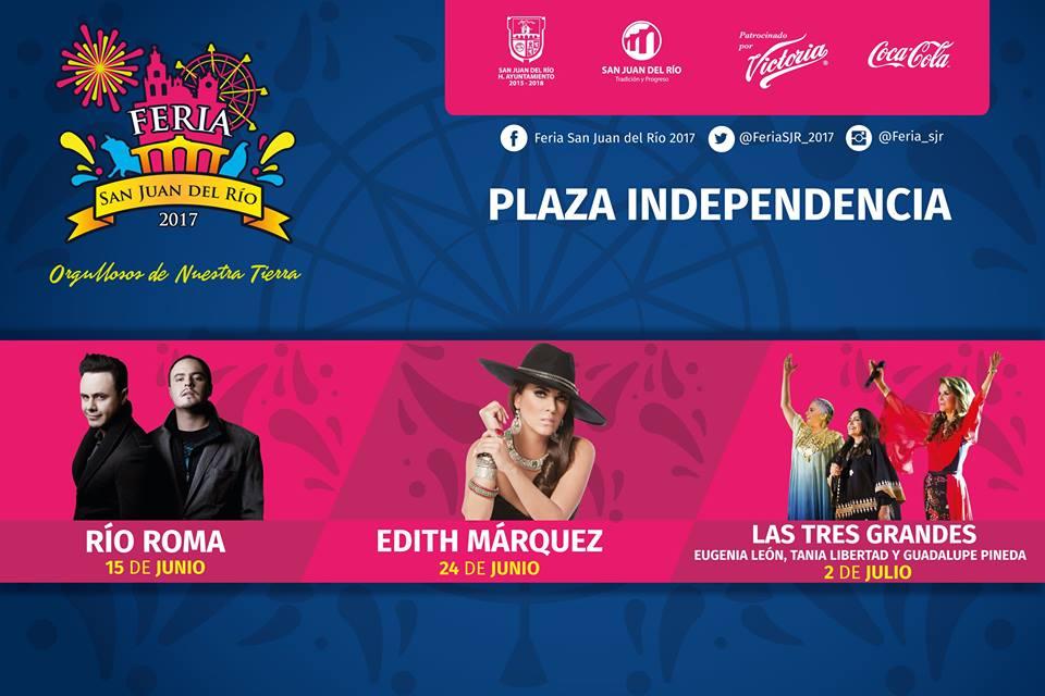 Artistas Plaza Independencia Feria San Juan del Rio 2017