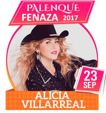 Alicia Villarreal en Palenque FENAZA 2017