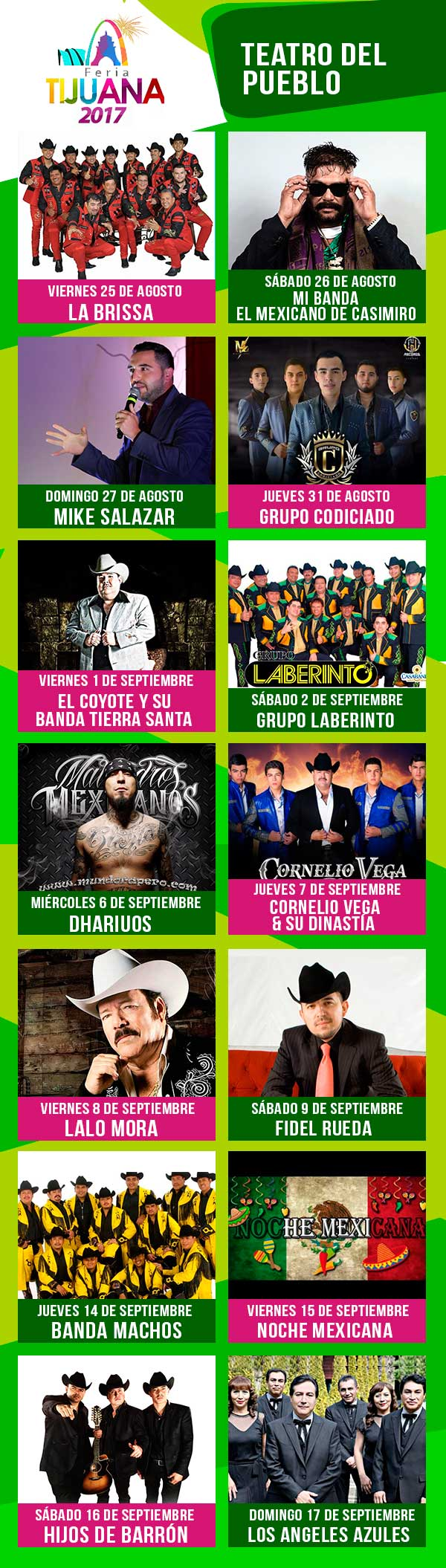 Programa Teatro del Pueblo Feria de Tijuana 2017