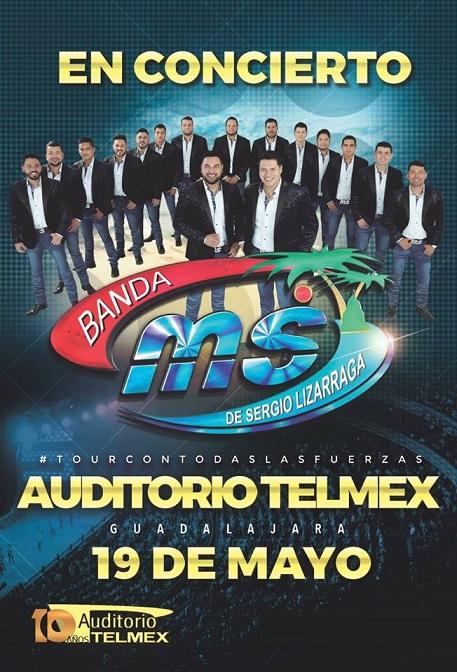 Banda MS en Auditorio Telmex este 2018