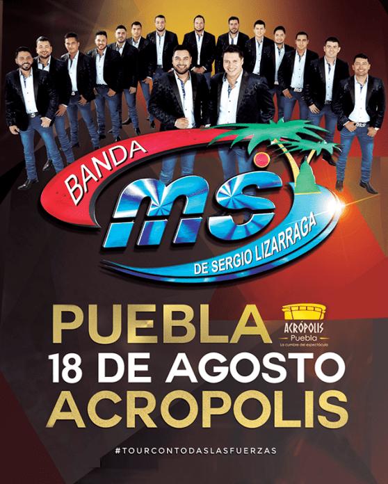 Banda MS en el Acropolis Puebla, Tour 2018