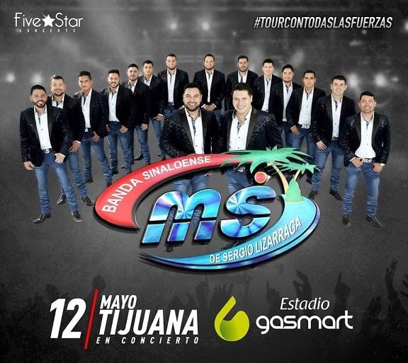 Banda MS en el Estadio Gasmart, Tijuana