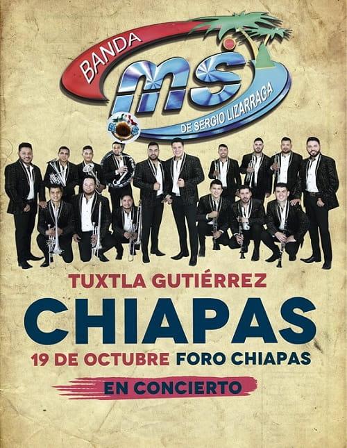 Banda MS en el Foro Chiapas, Tour 2018