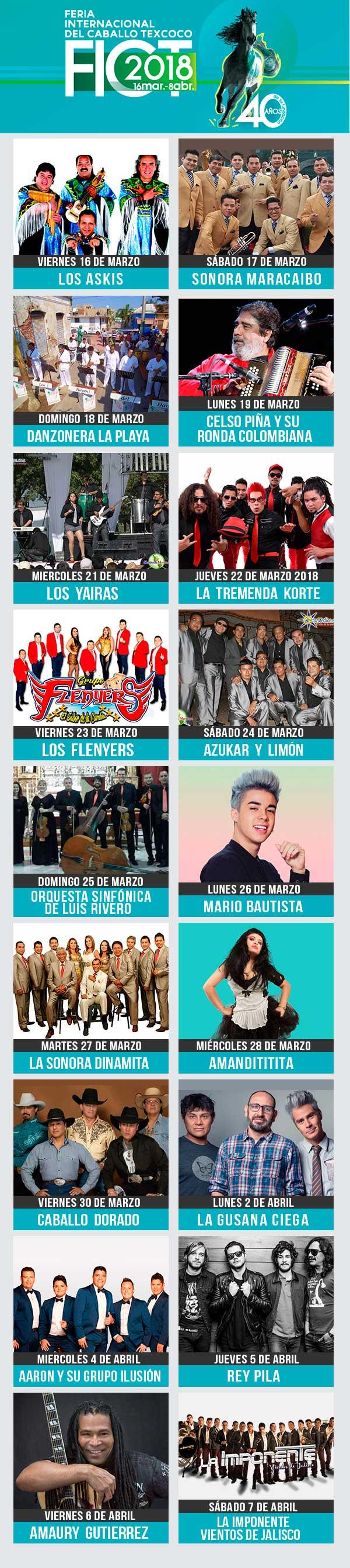 Elenco Teatro del Pueblo Feria de Texcoco 2018