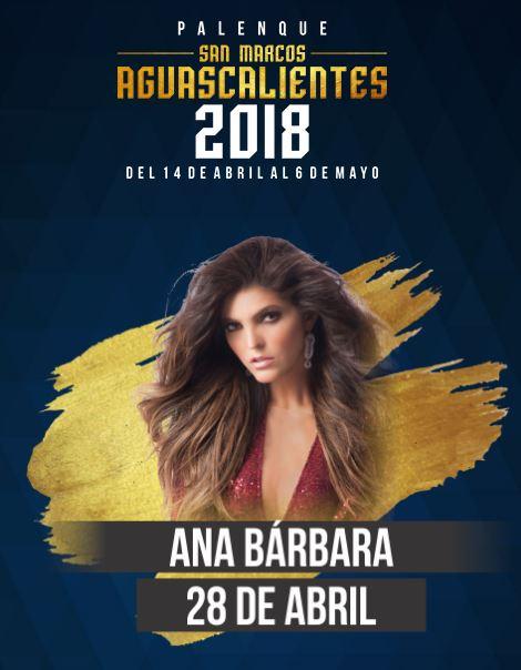 Ana Barbara en el Palenque Feria de San Marcos 2018