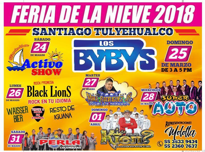 Cartelera Feria de la Nieve Santiago Tulyehualco 2018