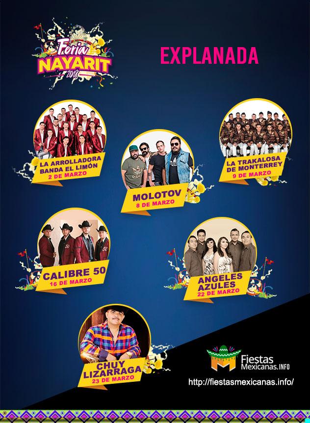 Cartel de la Explanada Feria Nayarit 2018