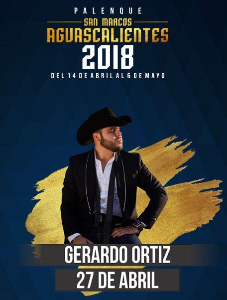 Gerardo Ortiz en el Palenque Feria de San Marcos 2018