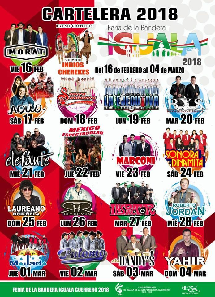 Cartelera Teatro del Pueblo Feria Iguala 2018